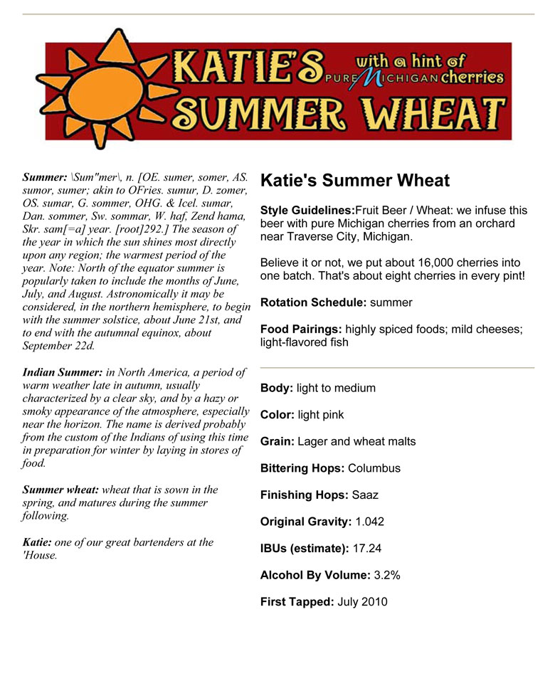 Barley's Smokehouse Katie's Summer Wheat
