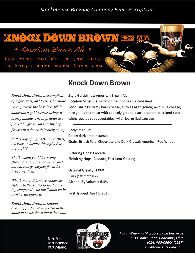 Smokehouse Knock Down Brown