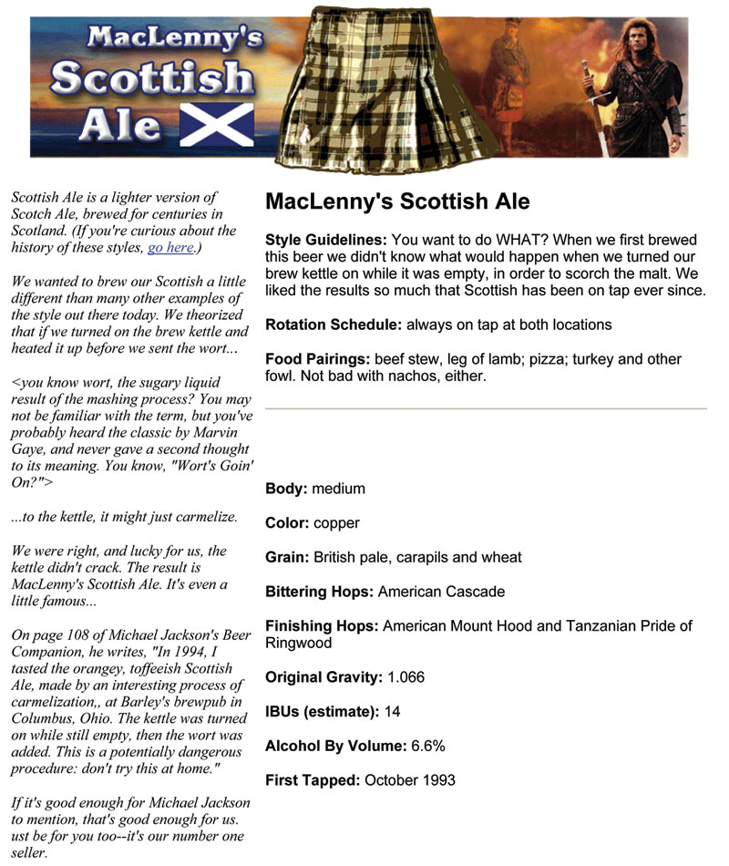 Barley's Smokehouse MacLenny's Scottish Ale