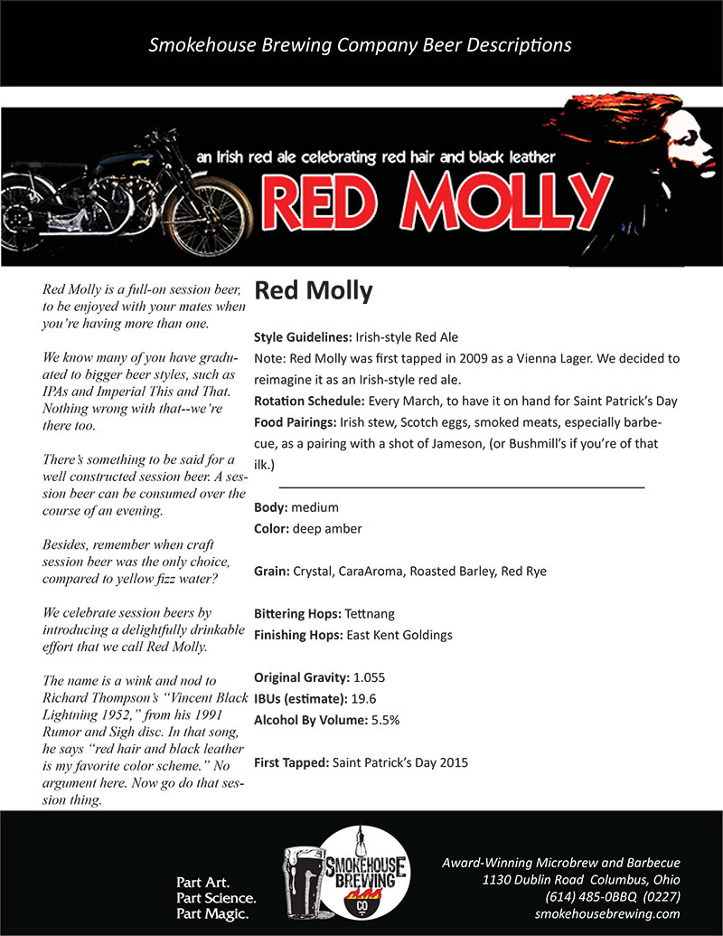 Smokehouse Red Molly Ale'