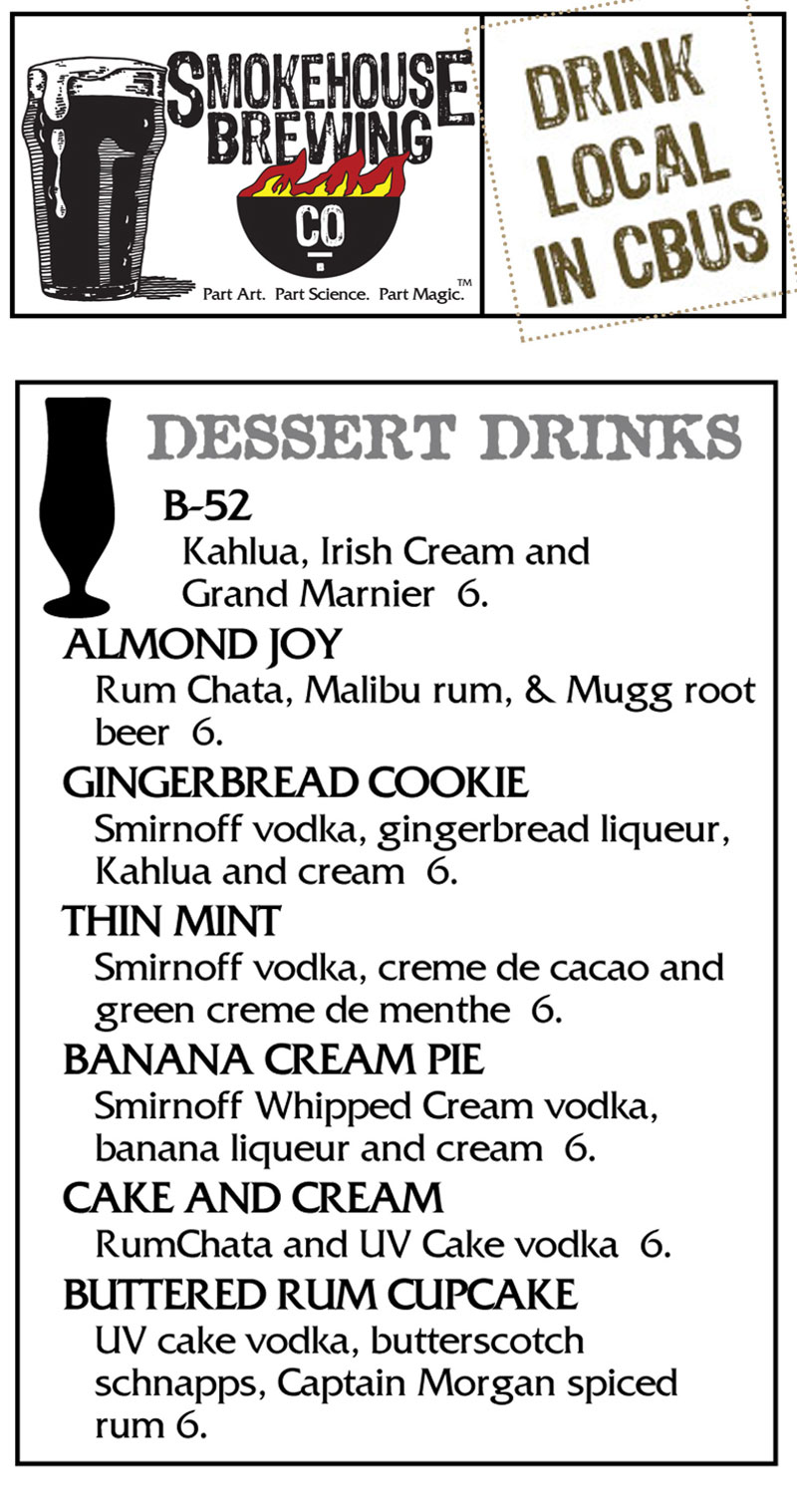 Smokehouse Brewing Company Dessert Beverages