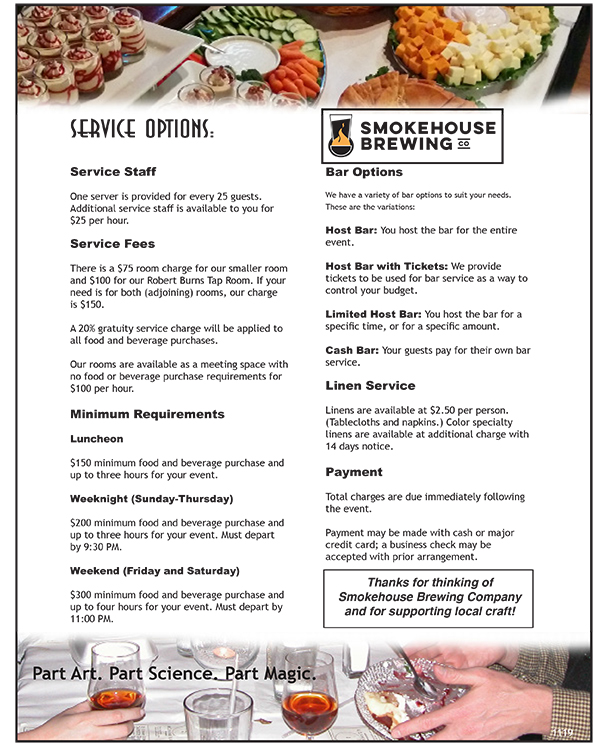 Smokehouse Service Options