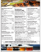 Smokehouse Brewing Company Bulk BBQ Barbecue Menu