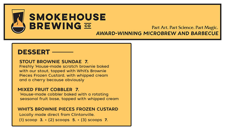 Smokehouse Brewing Company Desserts